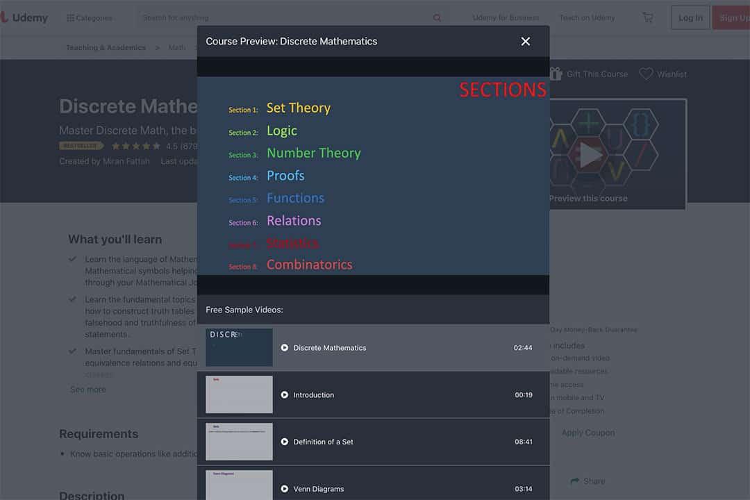 discrete mathematics course preview