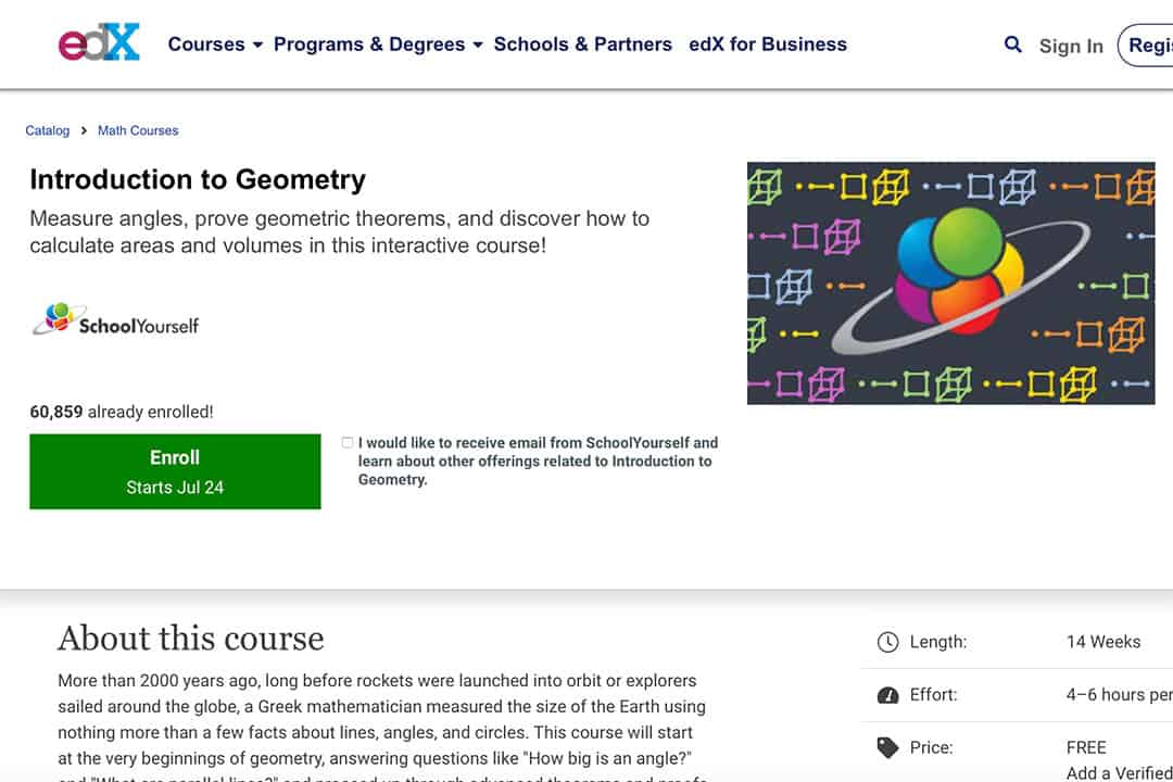 edx introduction to geometry chapter presentation